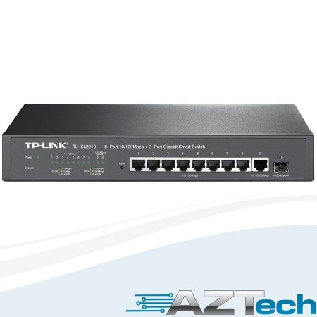 Switch 8p + 2p Gigabit Gerenciável Tplink Tl-sl2210 web Smart