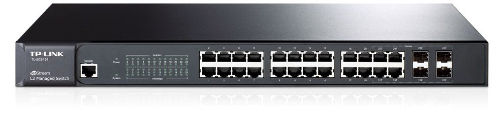 Switch Gerenciável 24 Portas Gigabit 10/100/1000 Tl-sg3424