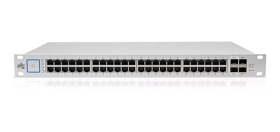 Switch 48 portas Gigabit com POE 24 / 48V US-48-500W-BR Unifi Ubiquiti 2 SFP+ 10GB