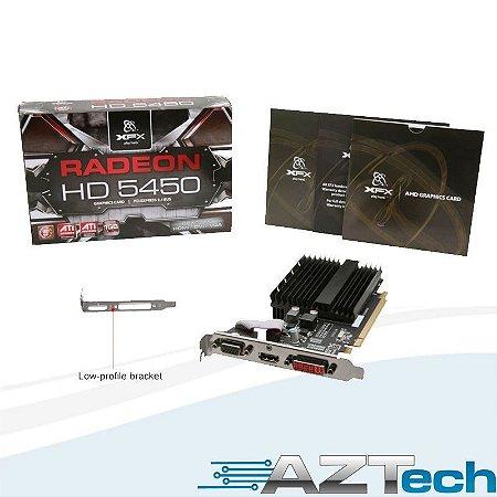 Placa de Vídeo Radeon HD 5450 1GB DDR3 XFX Low Profile HD-545X-ZQH2