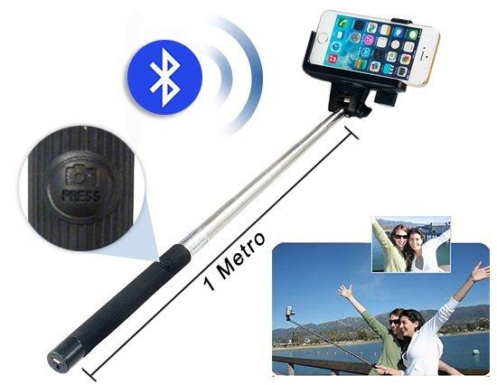 Monopod Paude Selfie Com Botão Na Aste Bluetooth - Empire ZM-07 sem fio
