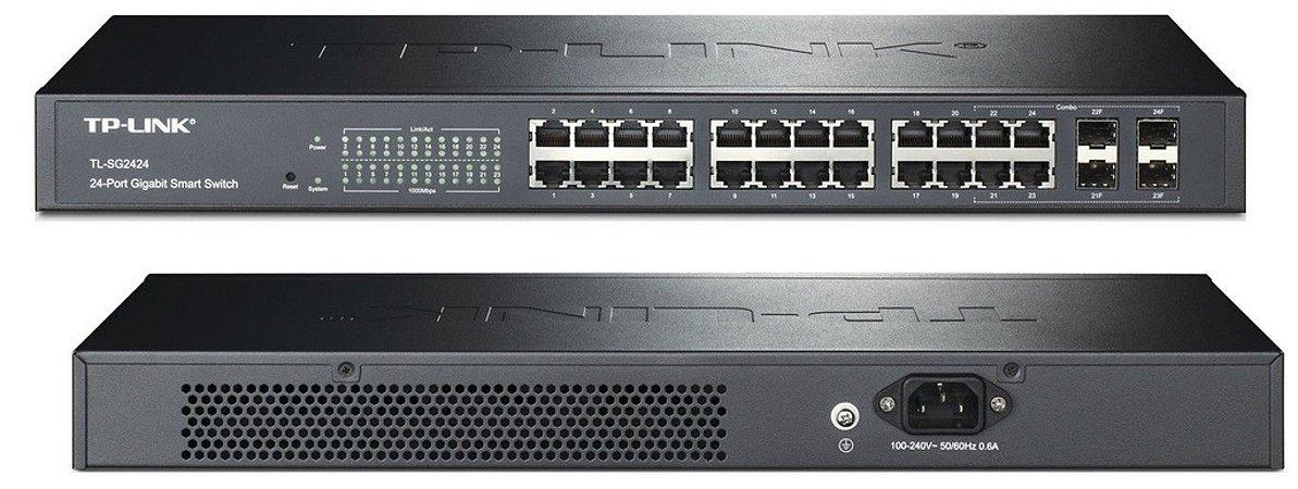 Switch 24 Portas Gigabit Gerenciável TP-Link T1600G-28TS (TL-SG2424) 4 SFP