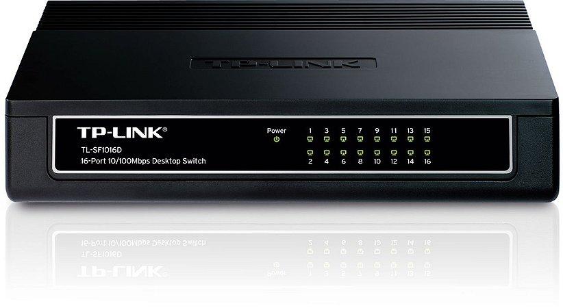 Switch 16 portas 10/100MB/s Tp-link TL-SF1016D