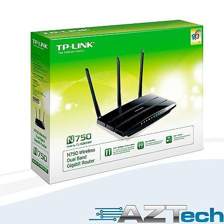 Roteador Dual Band 750mb Tplink Tl-wdr4300 Nas Print Server
