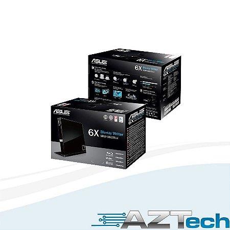 Gravador Blu-ray Externo Asus Usb Slim Sbw-06d2x-u 90-dt20305-ua191kz