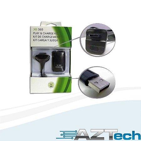 Bateria E Carregador Para Xbox 360 Ni Mh10000mah Ra-00002