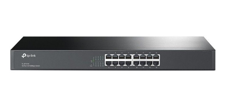 Switch 16 portas 10/100MB/s Rackmount TP-Link TL-SF1016