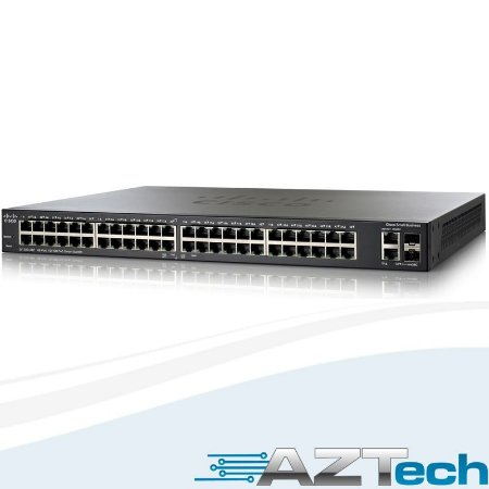 Switch Cisco Slm248pt Sf200-48p 48 Portas Poe + 2 Portas Sfp