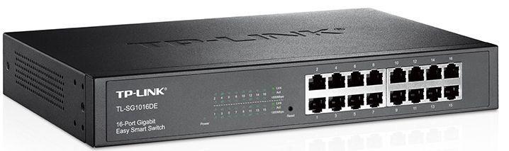 Switch 16 Portas Gigabit Gerenciável Tp-link Tl-sg1016de Desktop/Rackmount