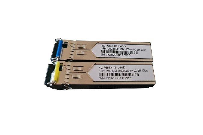 Par Transceptor Ótico Gbic 40km Lc Certificado Cisco Hp Datacom
