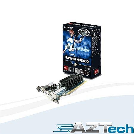 Placa De Vídeo Radeon Hd6450 1gb Ddr3 Sapphire Low Profile