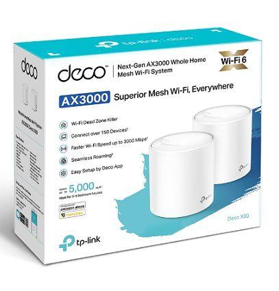 Kit 2 Peças Repetidor Wi-fi 6 Mesh Deco X60 Ax3000 Tplink