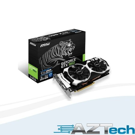 PLACA DE VIDEO NVIDIA GEFORCE GTX 960 OC ARMOR 2GB 128 BITS GDDR5 MSI