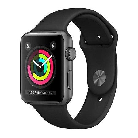 Apple Watch S3 42mm Space Gray Aluminum Black Sport (GPS) MTF32LL/A