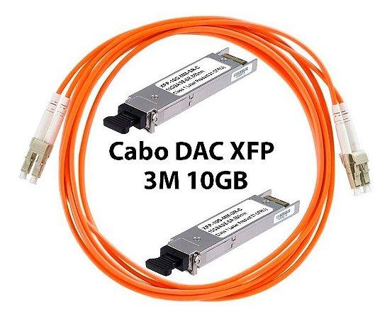 Cabo Dac Óptico Xfp 10gb 3 Metros Uplink Fiberhome E Outros