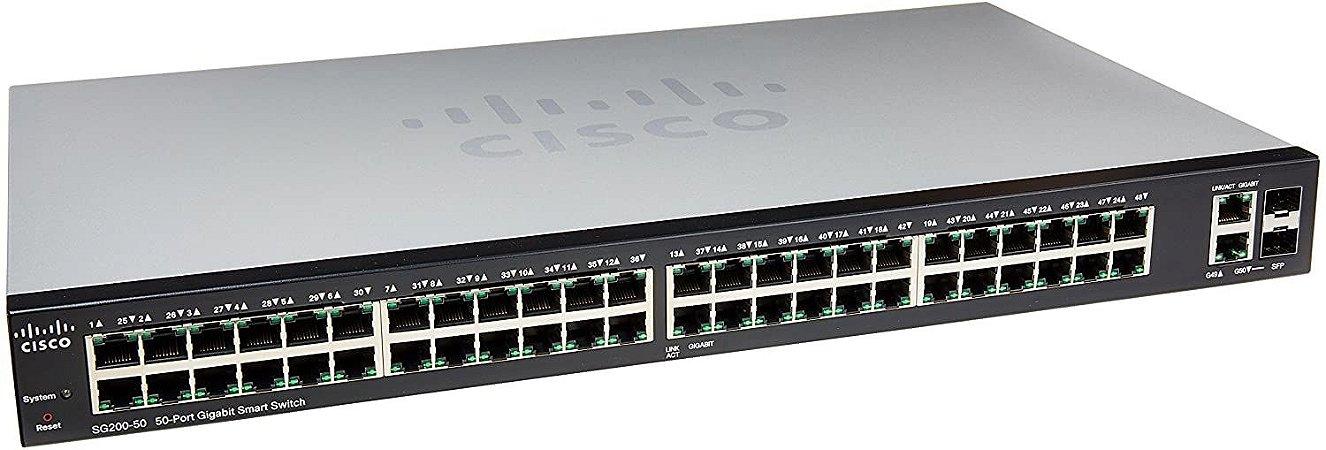 Switch Gerenciável 50 Portas Gigabit Cisco Slm2048t-na