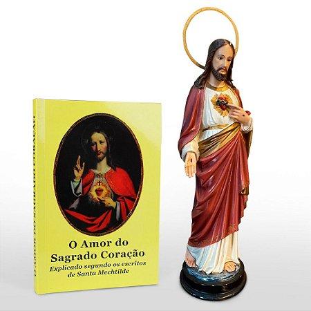 Combo Sagrado Coração Jesus - Imagem + livro o Amor do Sagrado Coração