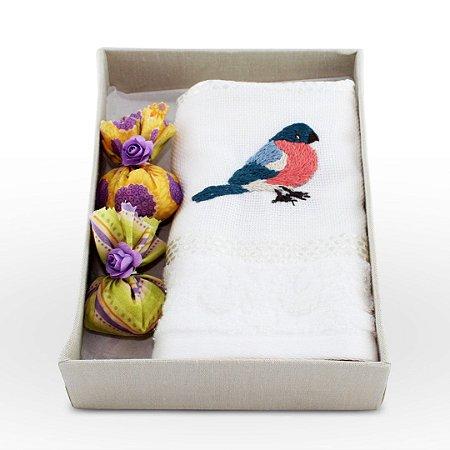 Kit Lavabo 03 - pássaro azul e rosa