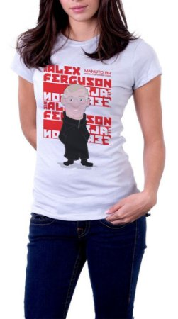 Camiseta Sir Alex Ferguson - Feminina