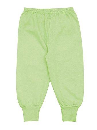 Calça Pijama Unissex Meia Malha - Menta