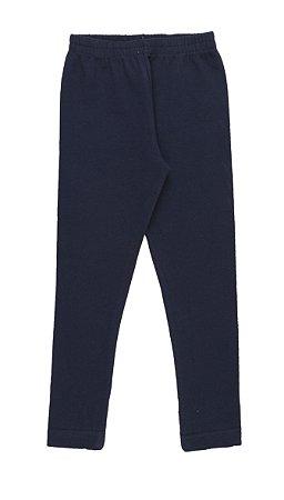 Calça Legging Menina Cotton - Marinho