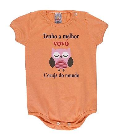 Body Menina Meia Malha 30/1 - Salmão