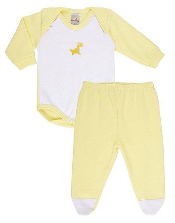 Conjunto Body Unissex Ribana - Amarelo