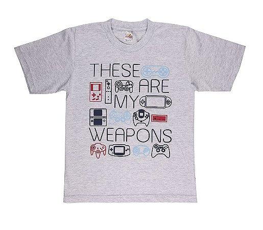 Camiseta Menino Meia Malha 30/1 - Mescla