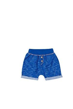 Bermuda Menino Moletinho Devore - Azul