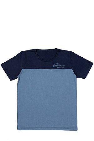 Camiseta Masculina Meia Malha - Azul com Marinho