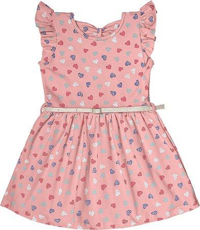 Vestido Menina Cotton Lycra - Rosa Claro