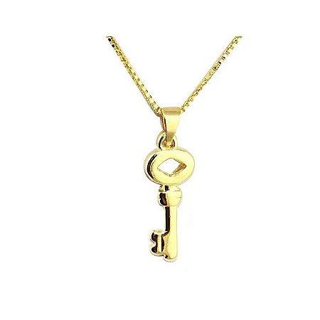 Colar Chave Folheado a Ouro 18k - 06616