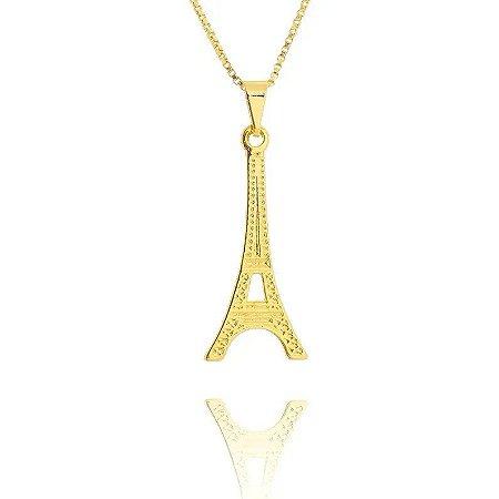 Colar Torre Eiffel Folheado a Ouro 18k
