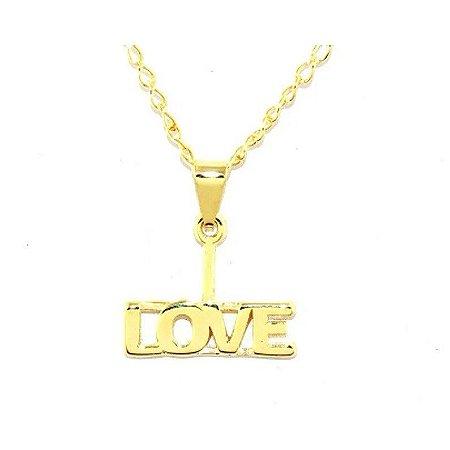 Colar Love ll Folheado a Ouro 18k