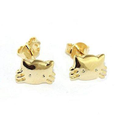 Brinco Hello Kitty Folheado a Ouro 18k - 06589