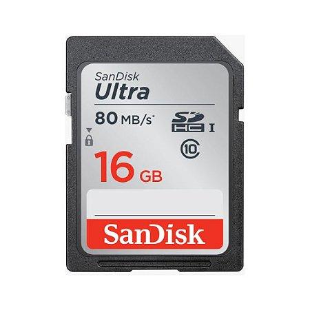 Cartão de memória SDHC UHS 16GB ULTRA 80MB/S Sandisk