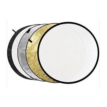 Rebatedor Circular 5x1 110cm Refletor Difusor + Case