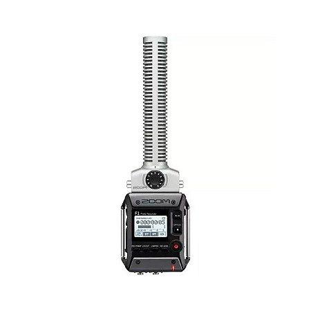 Gravador de Áudio Digital com SHOTGUN Recorder F1-SP ZOOM