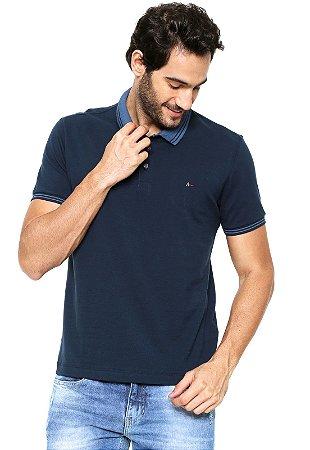 4b5822ee464 Camisa Polo Aramis Regular Fit Frisos Azul-marinho - Revolution Dark
