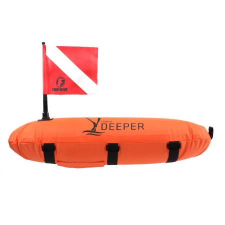 BÓIA-02R Fun Dive, Marcação Torpedo Bandeira com capa de nylon