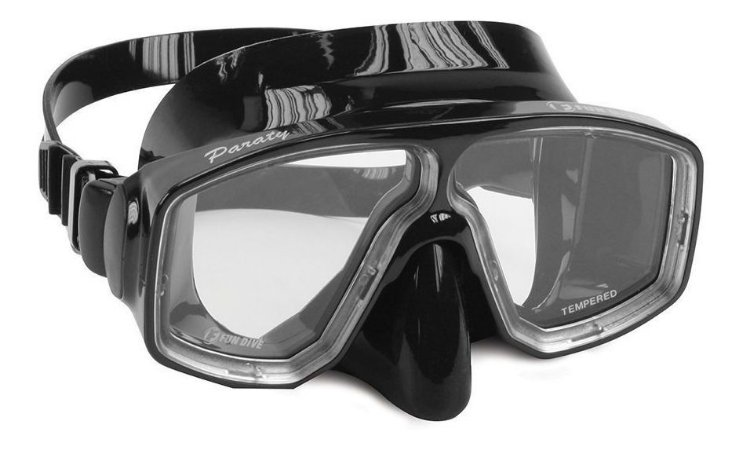 Máscara de Mergulho Paraty Fun Dive, vidros temperados