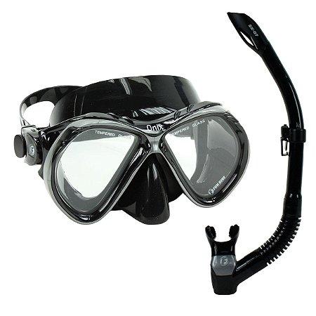 Kit Pro Onix Fun Dive, Máscara Respirador Mergulho Pesca Sub