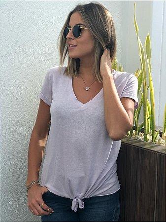 T-Shirt Podrinha lilás com nózinho