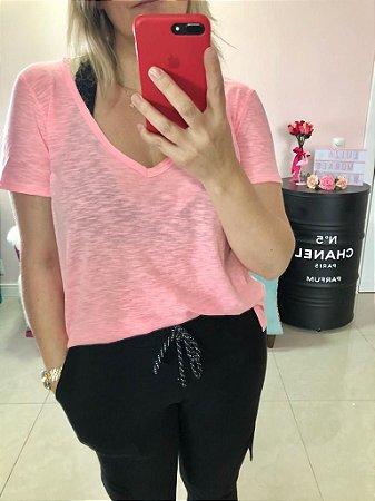 T-shirt Flamê rosa Neon