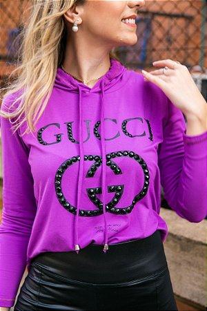 Blusa GG Purple bordada
