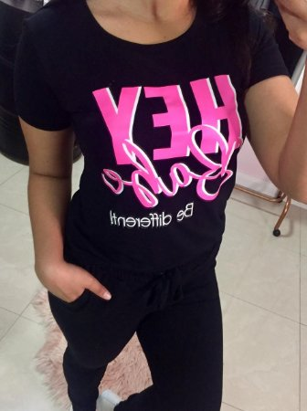 T-Shirt Hey Babe pretinha
