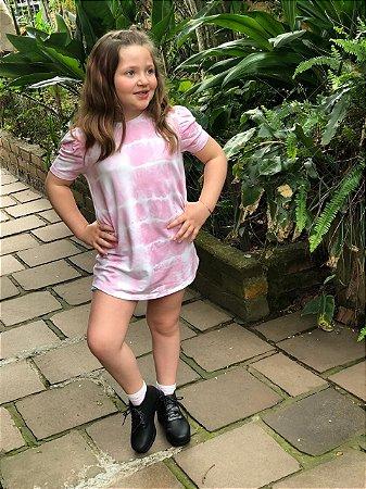 Vestido Tie Dye rosinha - infantil