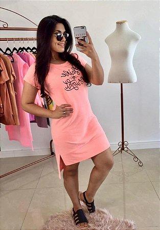 Vestido Shine Bright Neon Laranja