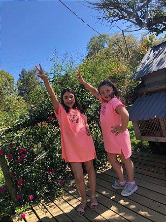 Vestido Shine Bright Neon Laranja - Infantil