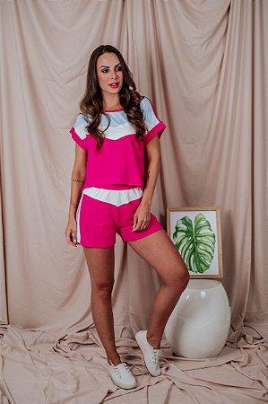 Conjunto Pink Cropped + Short